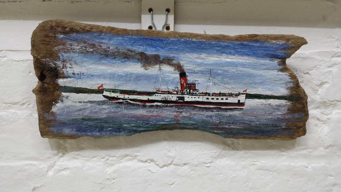 PS Lincoln Castle – Oils on Driftwood